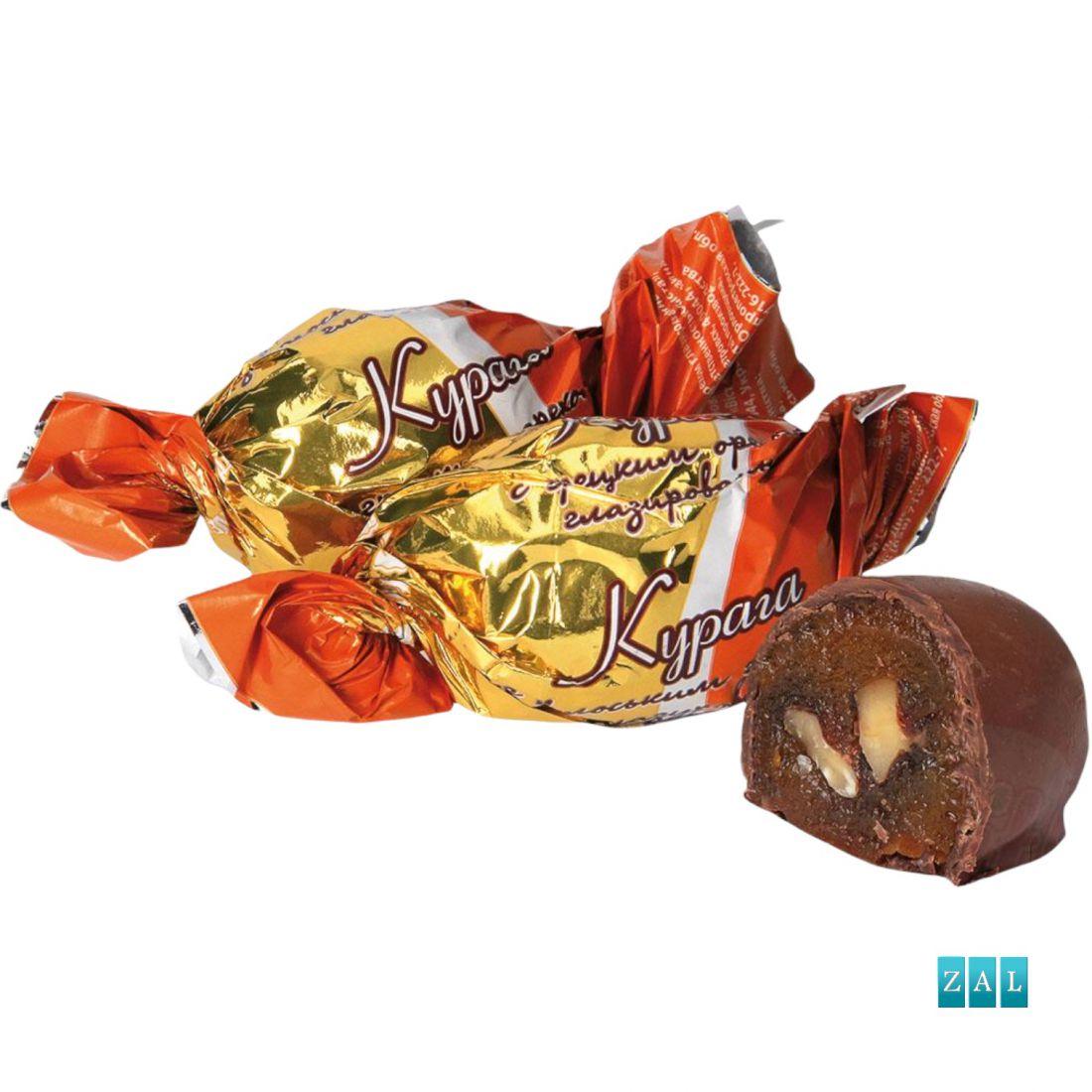 """Bonbon """"Szárított sárgabarack csokis dióval"""" 100g"""