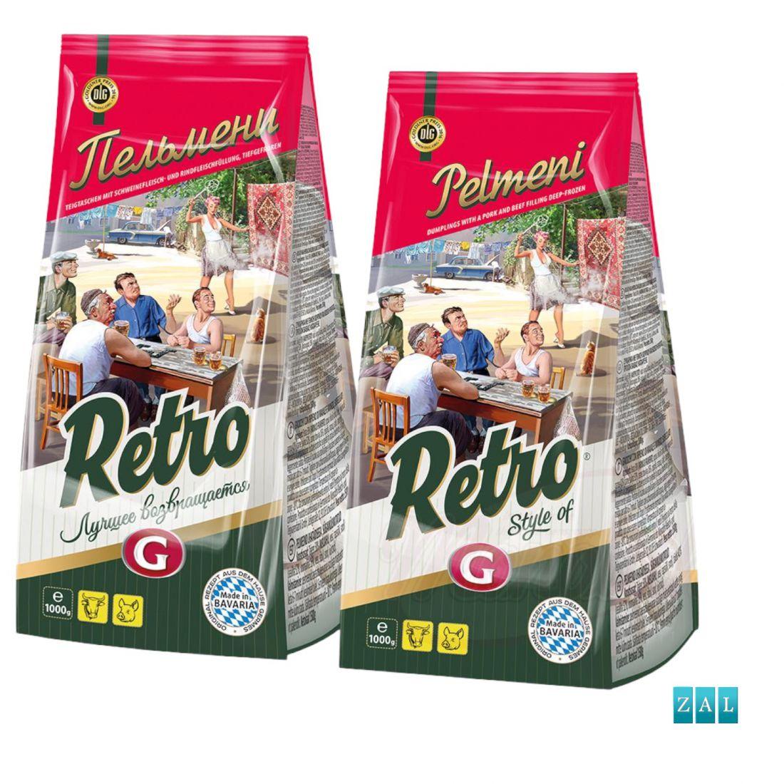"""""""RETRO"""" pelmenyi, mélyhűtött termék"""