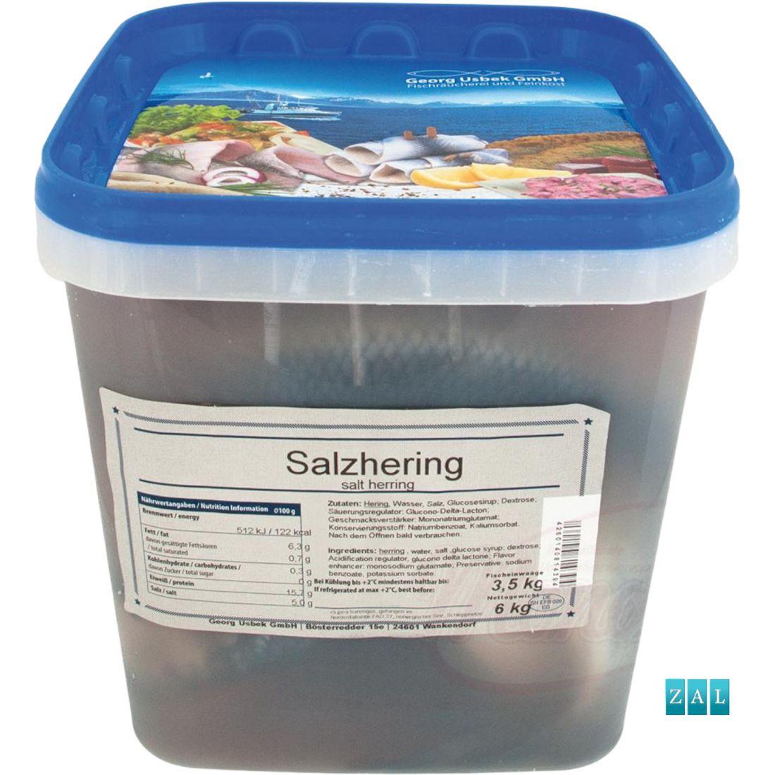 Hering (Glupea harengus) enyhén sós lében 3,5kg