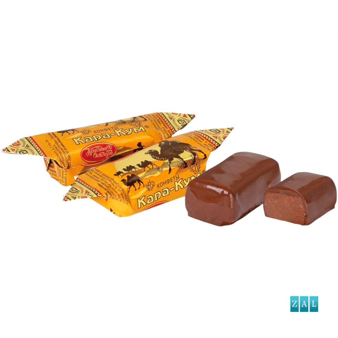 """""""Kara-Kum"""" mogyorós csokoládé praliné ostya darabokkal 100g"""
