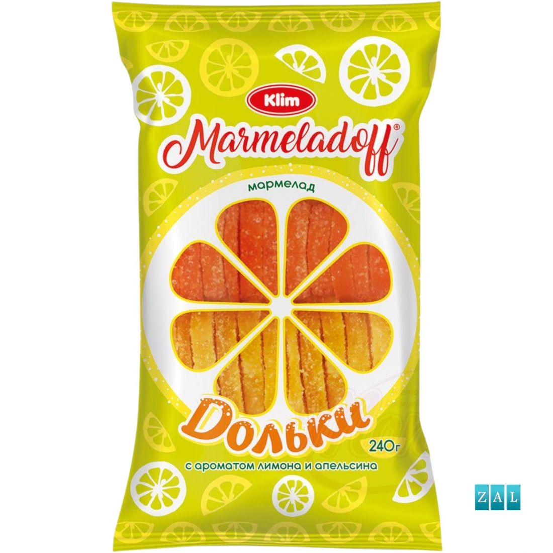 """""""Fél narancs- és citromszeletek"""" zselé gyümölcsök 240g"""