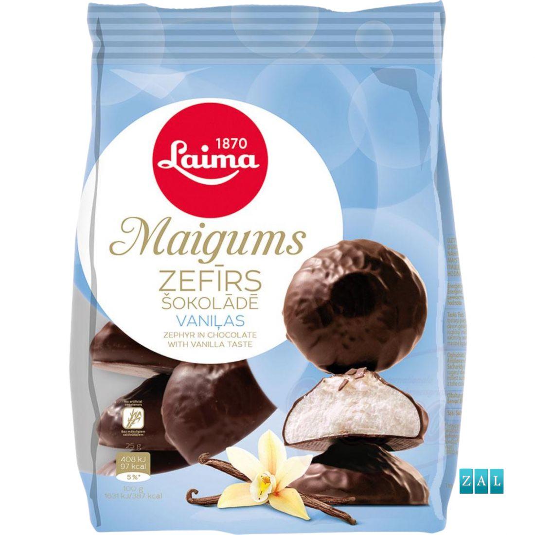 """""""Zefir"""" vaníliás habos édesség csokoládéba mártva 200g"""