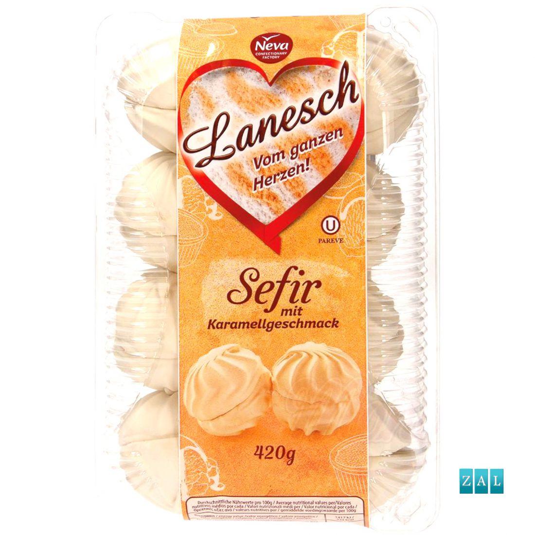 """Habcukor """"Zefir Lanesch"""" karamella ízzel 420g"""