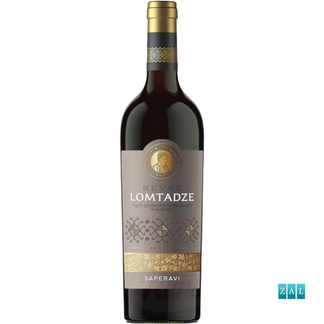 """Lomtadze - vörösbor """"Saperavi"""", száraz 750ml"""
