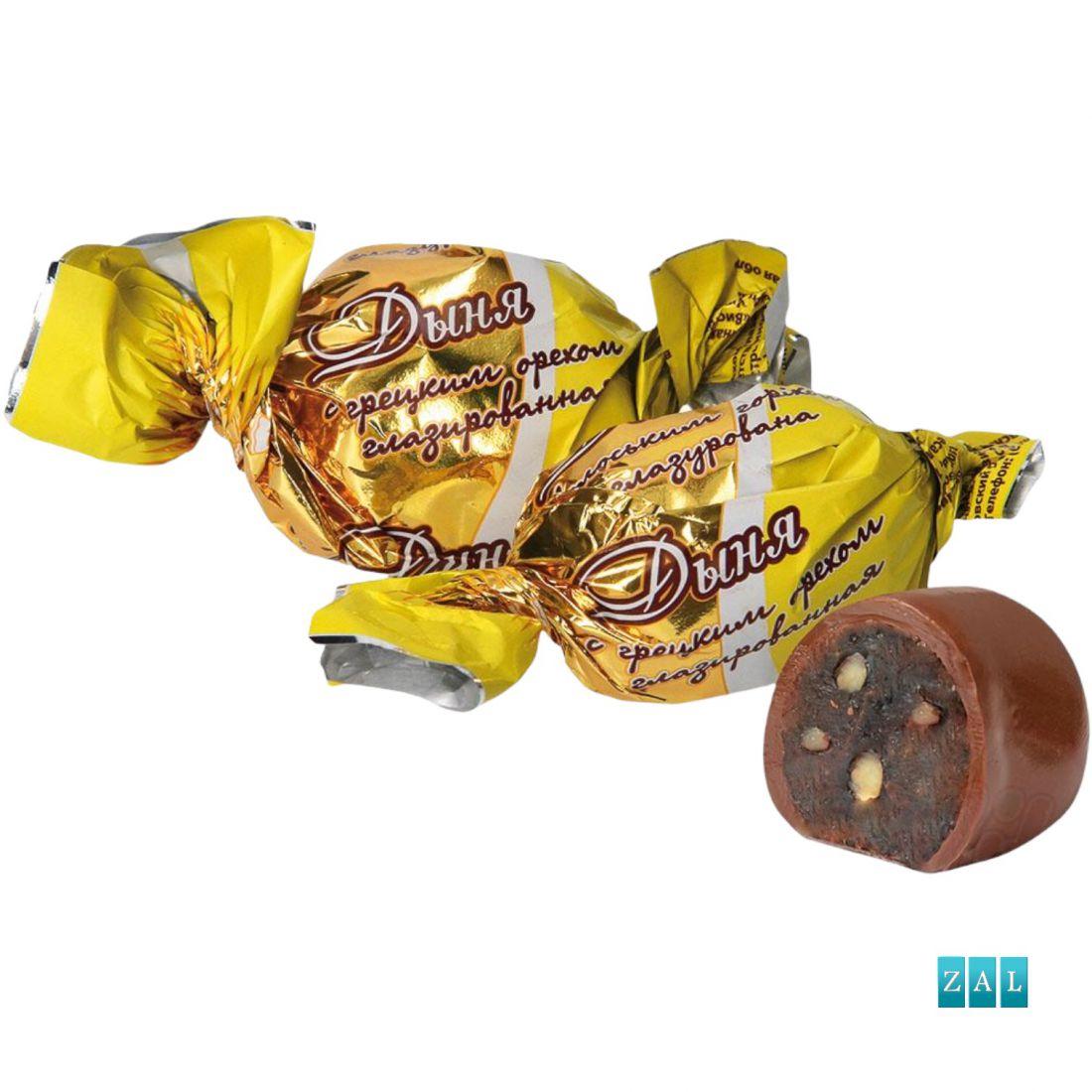 """Bonbon """"Aszalt sárgadinnye csokis dióval"""" 100g"""