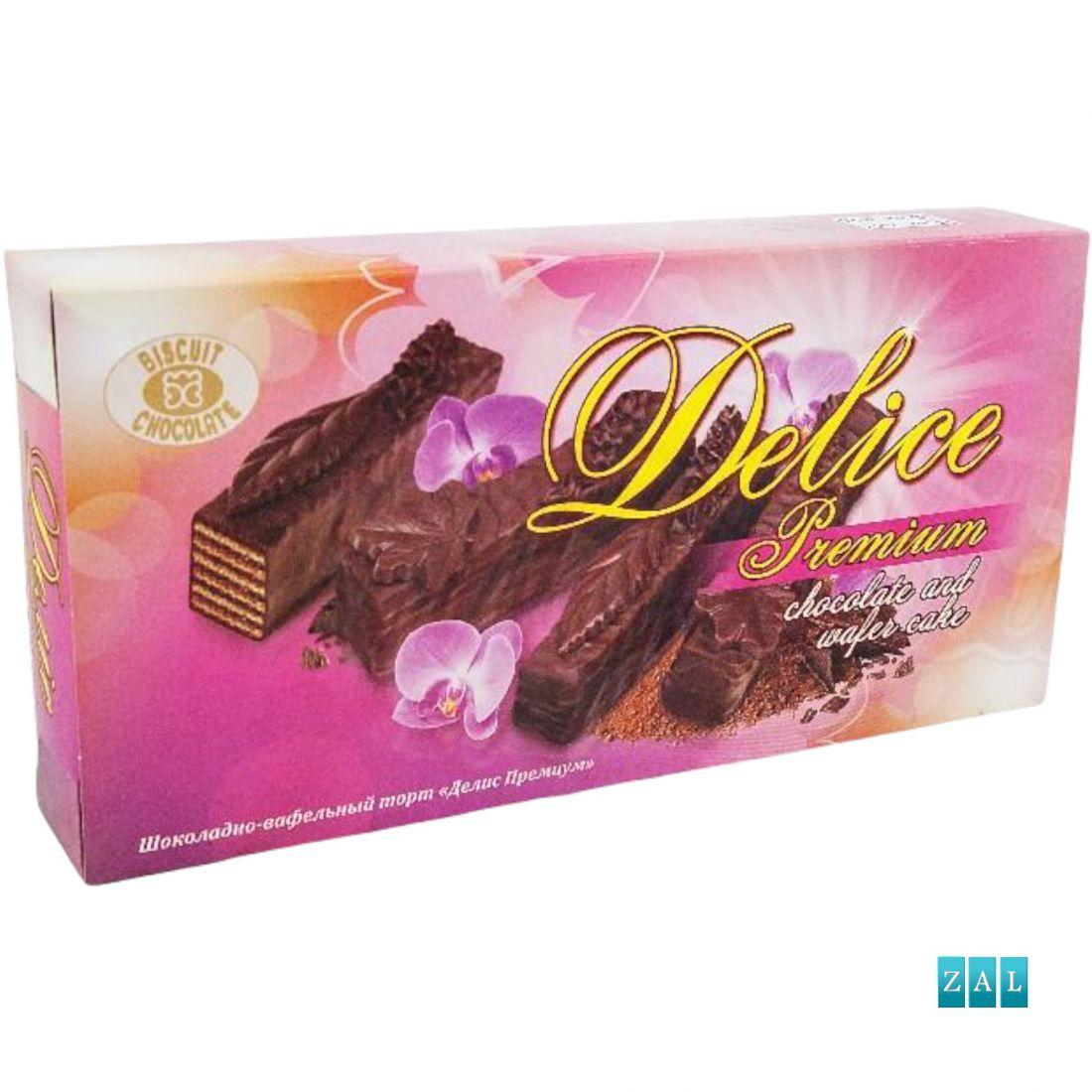 Delice prémium csokoládé ostyatorta 500g