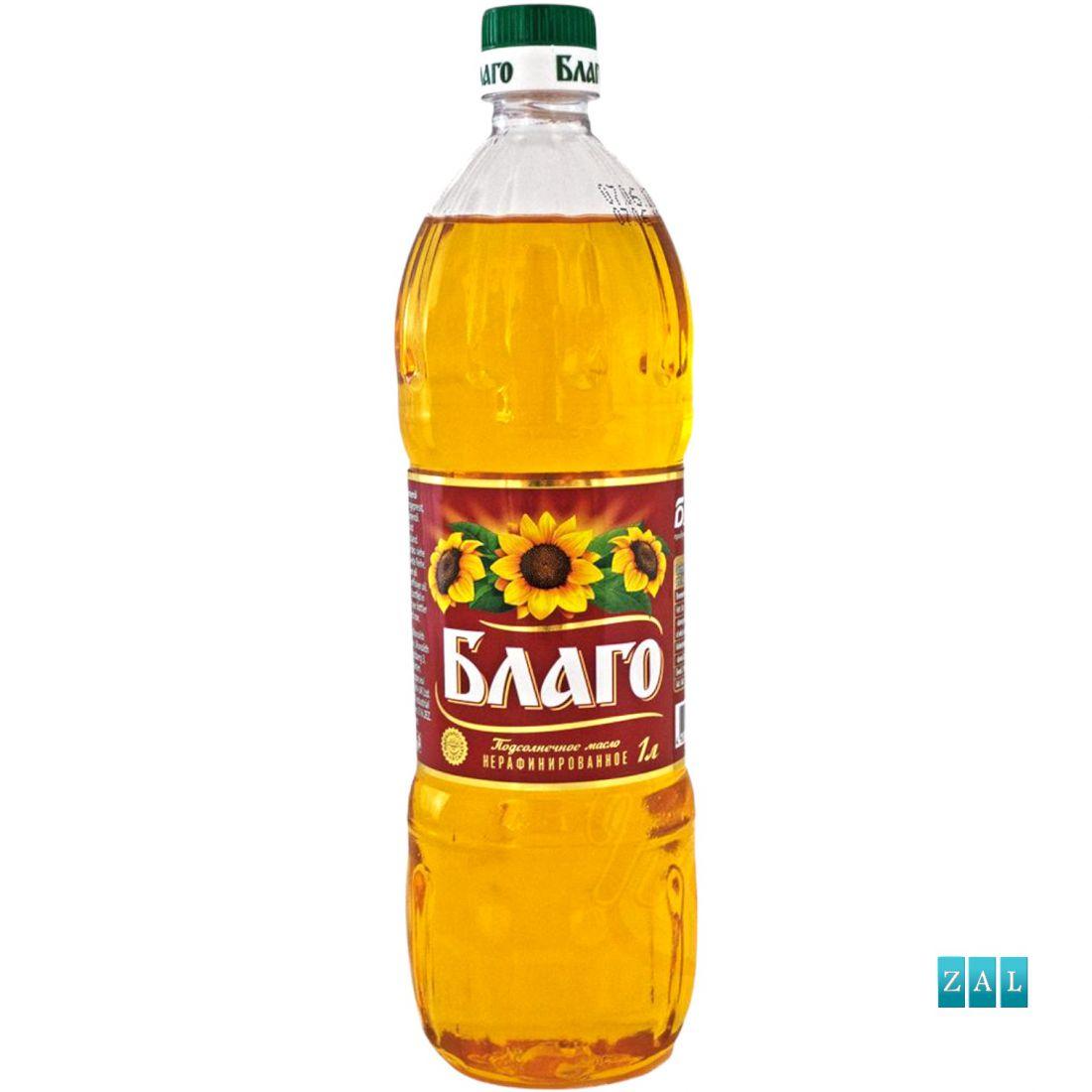 """""""Blago"""" napraforgó-olaj, finomítatlan 1000ml"""