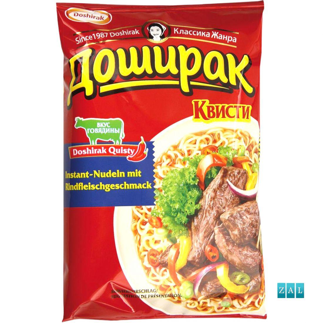 """Gyors tészta """"Doshirak Kvisti"""" marhahús ízesítéssel 70g"""